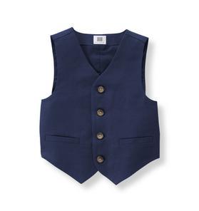 Linen Blend Suit Vest