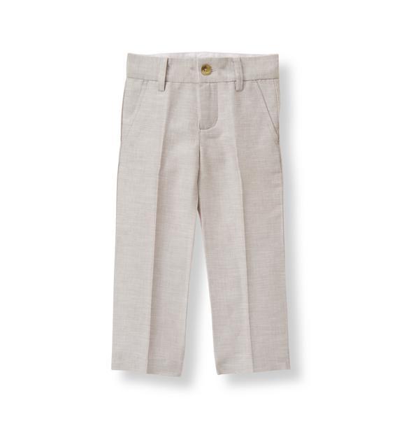 Linen Blend Suit Trouser