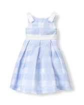 Gingham Organza Dress