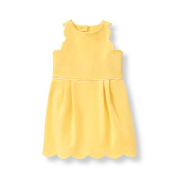 Baby Girl Daffodil Scallop Ponte Dress at JanieandJack
