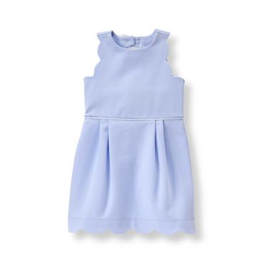 Baby Girl Hydrangea Scallop Ponte Dress at JanieandJack