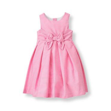 Baby Girl Berry Pink Stripe Striped Dress at JanieandJack