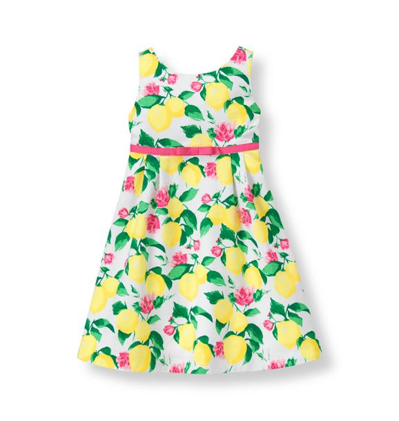 Lemon Pique Dress