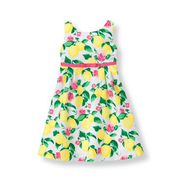 Baby Girl Lemon Print Lemon Pique Dress at JanieandJack