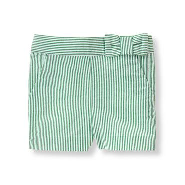 Baby Girl Palm Stripe Seersucker Short at JanieandJack