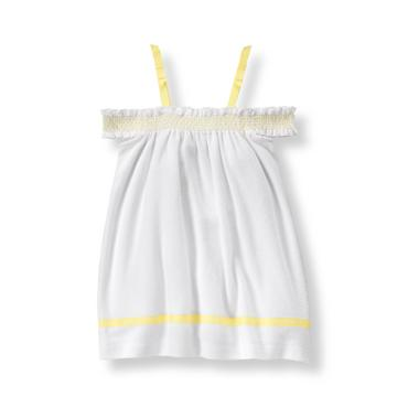 Baby Girl White Terry Cover-Up at JanieandJack