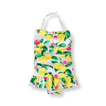 Baby Girl Lemon Print Lemon Swimsuit at JanieandJack