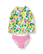 Lemon Rash Guard Set