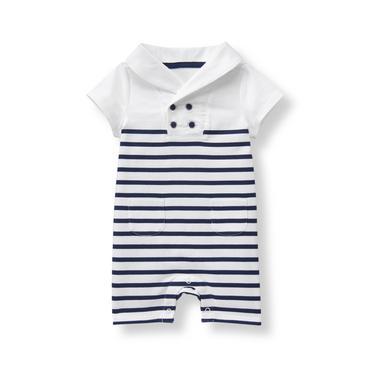 Baby Boy Navy Stripe Striped 1-Piece at JanieandJack