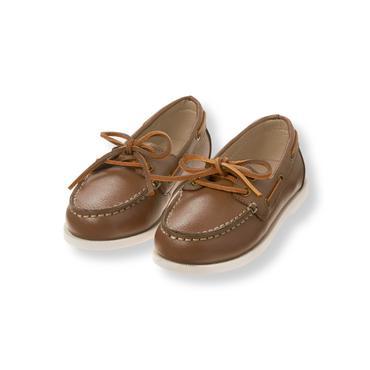 Baby Boy Deck Brown Leather Boat Shoe at JanieandJack