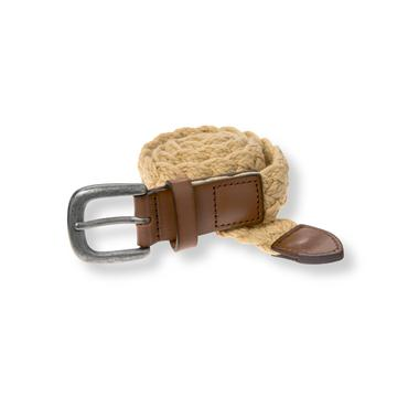 Baby Boy Coastal Tan Braided Rope Belt at JanieandJack