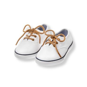 White Twill Sneaker at JanieandJack