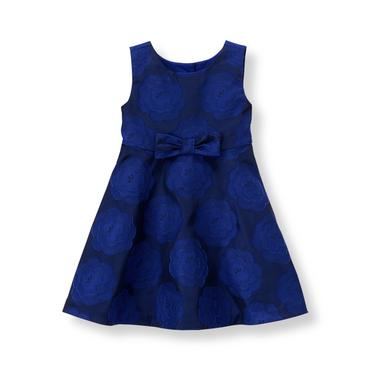 Baby Girl Iris Blue Floral Floral Jacquard Dress at JanieandJack