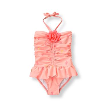 Shell Pink Pineapple Swimsuit at JanieandJack