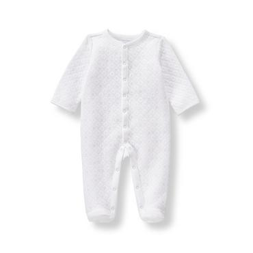 Layette White Quilted Star 1-Piece at JanieandJack