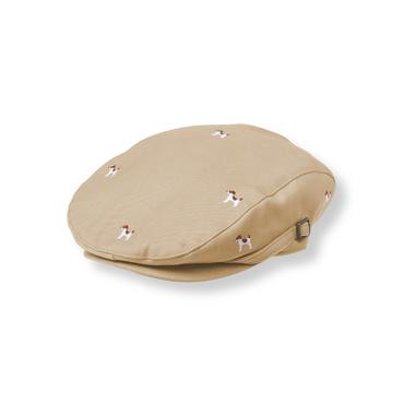 Khaki Embroidered Dog Cap at JanieandJack