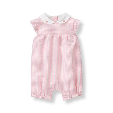 Baby Girl Tulip Pink Stripe Seersucker 1-Piece at JanieandJack
