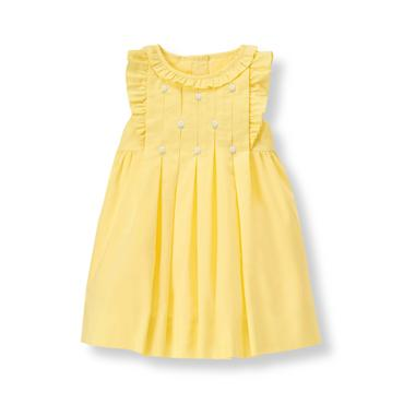 Baby Girl Lemon Embroidered Floral Dress at JanieandJack