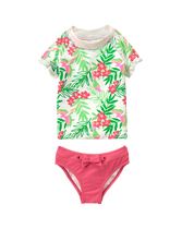 Tropical Rash Guard Set