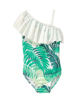 Palm Ruffle Swimsuit