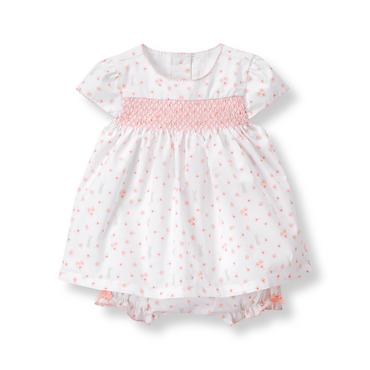 Baby Girl Blush Print Bunny Floral Set at JanieandJack