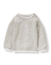 Embroidered Bunny Sweater