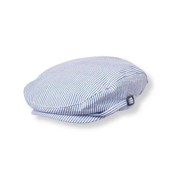 Striped Seersucker Cap