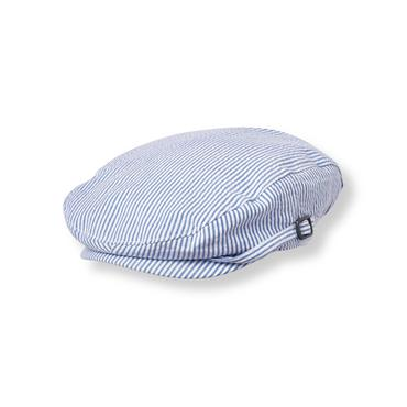 Baby Boy Cobalt Stripe Striped Seersucker Cap at JanieandJack