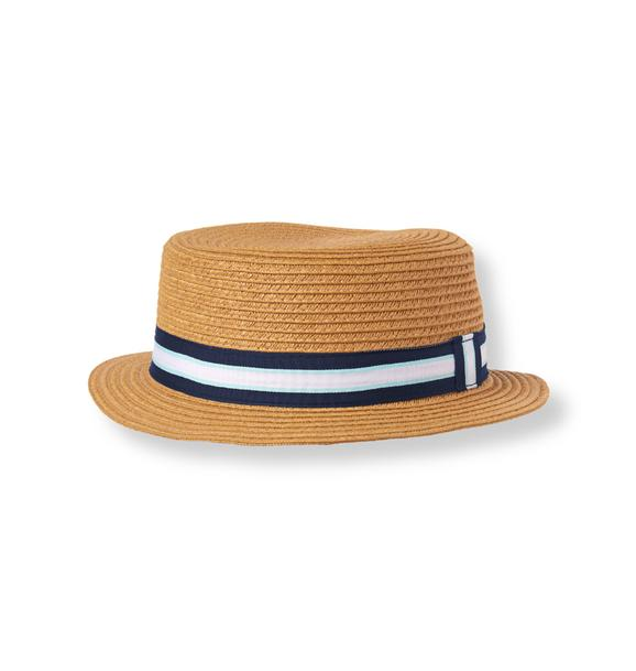 Striped Boater Hat