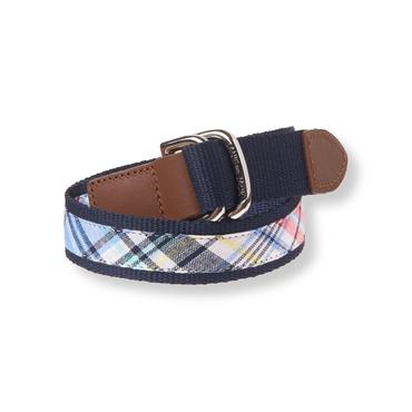 Baby Boy Cornflower Blue Plaid Plaid Belt at JanieandJack