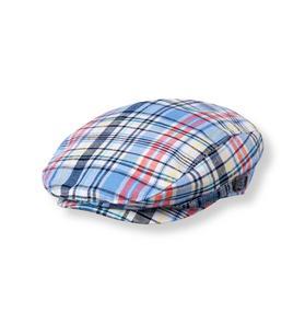 Plaid Linen Blend Cap