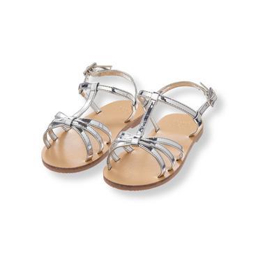 Baby Girl Silver Metallic Sandal at JanieandJack