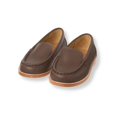 Baby Boy Milk Chocolate Leather Loafer at JanieandJack