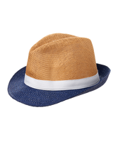 Colorblock Straw Fedora