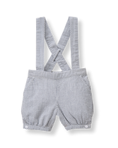 Seersucker Suspender Short
