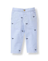 Whale Embroidered Pant