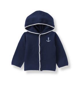 Hooded Anchor Cardigan