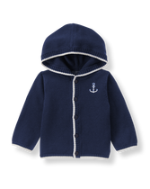 Hooded Anchor Cardigan