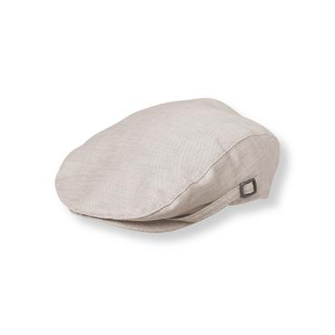 Baby Boy Taupe Grey Linen Blend Cap at JanieandJack