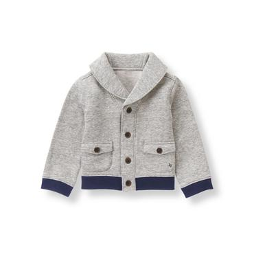 Heather Grey Shawl Collar Cardigan at JanieandJack