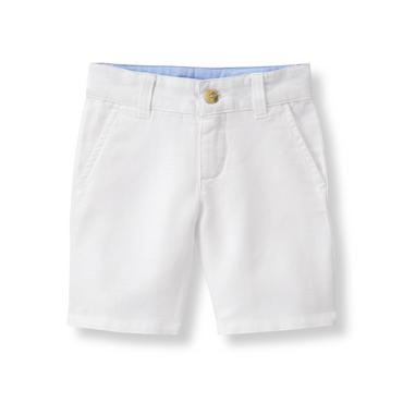 White Linen Blend Short at JanieandJack