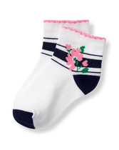 Striped Flower Sock