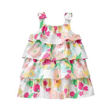 Sunwashed Rose Floral Floral Ruffle Dress at JanieandJack