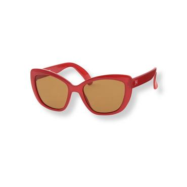 Baby Girl Deep Poppy Red Cat-Eye Sunglasses at JanieandJack
