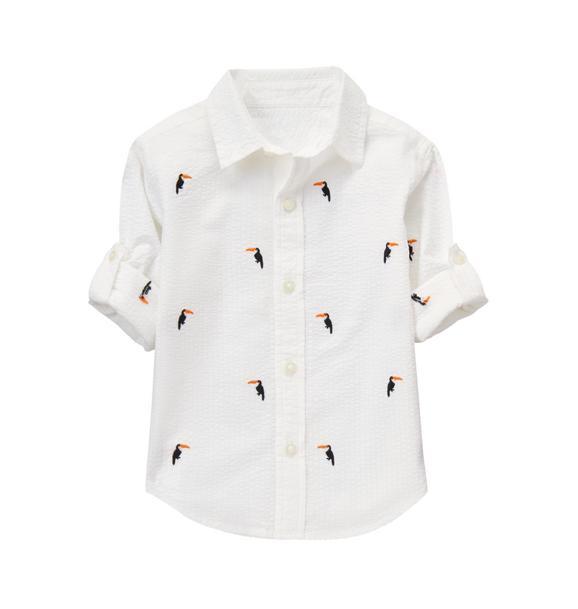 Roll-Cuff Toucan Shirt