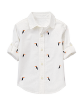 Roll-Cuff Toucan Shirt