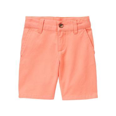 Baby Boy Sunwashed Orange Twill Short at JanieandJack