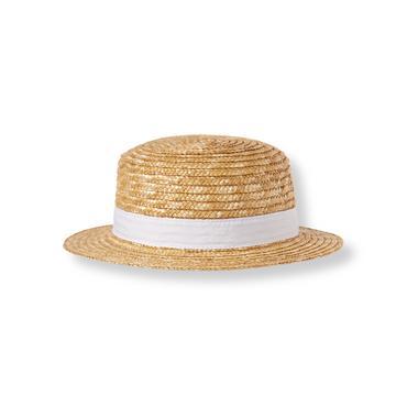 Natural Bow Straw Hat at JanieandJack