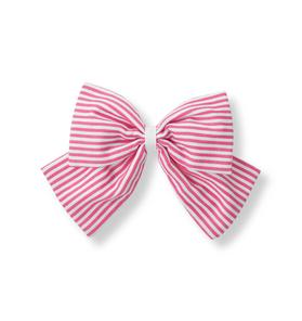 Striped Bow Clip