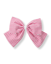 Striped Bow Clip